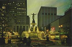 Fountain Square late 1950s? Thankfully, the building on the right had a short life...ugh!