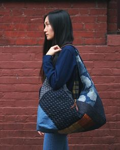 Check out these unique products by Kirikomade in Portland! Tsuno Tote, Boro Patchwork 01