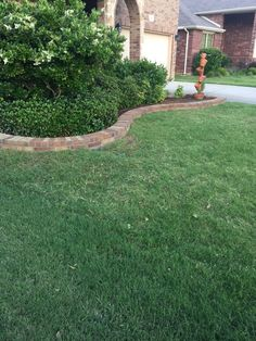This is another beautiful picture of the brick flowerbed borders GroundScape installed in Argyle Texas. If you would like an estimate for any landscape needs give us a call at Flower Bed Edging, Flower Beds, Argyle Texas, Pictures Of Bricks, Brick Border, Landscaping Company, Courtyards, Backyard Patio, Yard Ideas