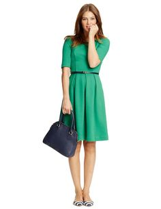 Boden dress - classic lines.  Love the pop of the green