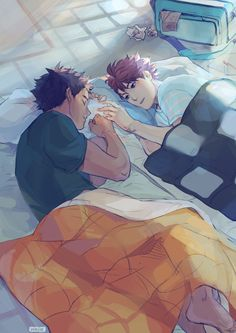 Hey hey hey! I can finally post the full version of my piece for Kami's iwaoi…