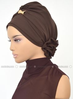 Ready-to-wear Turban - Brown - Ayşe Türban Tasarım