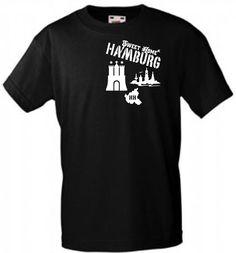 HAMBURG SWEET HOME HH SKYLINE T-SHIRT VIELE MOTIVFARBEN SPORT GESCHENK FREIZEIT!