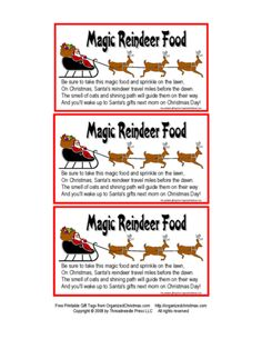 Magic Reindeer Food--I like that this recipe uses sugar instead of craft glitter, which can hurt small animals if ingested