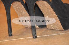 Pink Peonies - DIY glitter backed heels