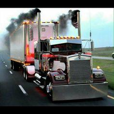 Kenworth custom W900L Rollin coal
