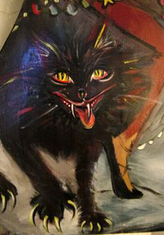 Over centuries of long, dark winters, Icelandic parents have taken the art of scaring kids with folkloric characters to an expert level! This is the YULE CAT, Jólakötturinn, who lurks in the snow outside your window to eat lazy children. Jólakötturinn's mistress, Gryla the Ogress, eats the naughty children herself. Gryla's many sons, the Yule Lads, hang around the house doing mischief, watching for a chance to snatch the bad kids and drag them home to mama in a big old bag. YOU BETTER NOT…