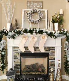 329 best christmas mantels images on pinterest christmas mantles merry christmas and christmas fireplace - Christmas Mantel Decorating Ideas Pinterest