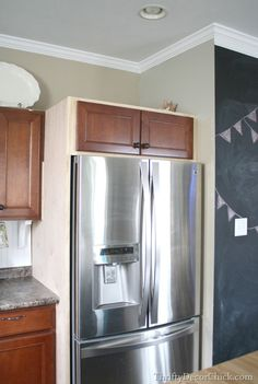 Building in a Fridge With Cabinet on top