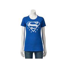 Juniors' DC Comics Superman Logo Graphic Tee, Teens, Size: Medium, Blue