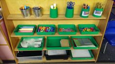 Our writing provision / writing area in Nursery