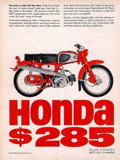 Advertisement for the little Honda.