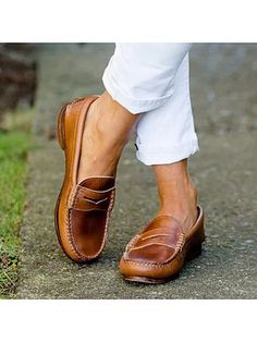 Women Casual Brogues Flats Heels Slip On Pumps Oxford Comfy Loafers Shoes Size
