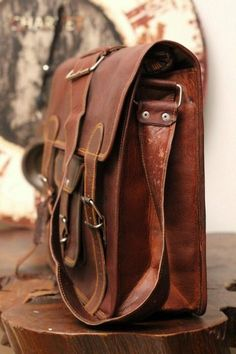 Leather Messenger Bag, by leathercreations110