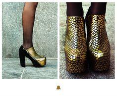 ☆ NEW ARRIVALS ☆  Invierno 13 ♥  Zapato plataforma gamuza y cuero ZBELL49