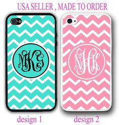 PERSONALIZED TURQUOISE PINK CHEVRON CUSTOM MONOGRAM CASE FOR IPHONE 6S 6 SE 5 5C #UnbrandedGeneric
