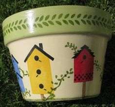 Birdhouse Flower Pot by bubee