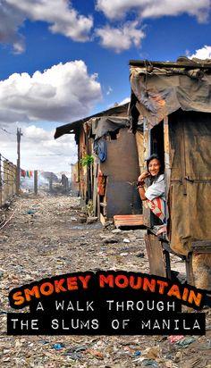 Smokey Mountain in Tondo, the slums of Manila, Philippines by Sabrina Iovino Philippines Culture, Manila Philippines, Philippines Travel, Philippines People, Travel Around The World, Around The Worlds, Vietnam, Philippine Holidays, Mindanao