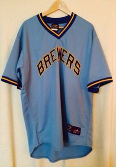 Milwaukee Brewers Vintage Adult Majestic Cooperstown Collection MLB Baseball XL