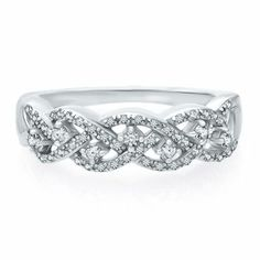 Certified Brilliance 1 4 Ct Tw Diamond Braided Ring In 14k Gold