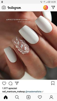 This series deals with many common and very painful conditions, which can spoil the appearance of your nails. But for you, nail technicians, this is not a problem! SPLIT NAILS What is it about ? Nails are composed of several… Continue Reading → Wedding Nails For Bride, Bride Nails, Prom Nails, Fun Nails, Weddig Nails, Wedding Nails Art, Simple Wedding Nails, Bridal Nail Art, Wedding Shoes