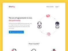 OnePay Homepage Design by Vivek Singh