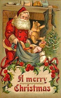 This is a collection of my favorite Vintage Christmas Greeting Cards that I collected over the years. Vintage Christmas Images, Christmas Scenes, Christmas Past, Victorian Christmas, Retro Christmas, Christmas Cross, Christmas Pictures, Father Christmas, Christmas Mantles