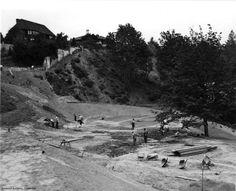 Washington Park northwest corner construction, 1940.