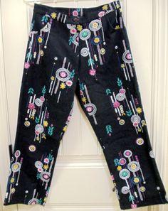 Vintage Painted Jeans  Flowers  Lolly Pop by ButterflyInTheAttic, $9.95