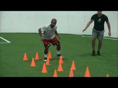 Here different set ups and patterns of cones are used to gain your speed and agility. Doing fast paced short distance drills are essential to gaining foot speed and lower body speed. Also it has been known to increase hand eye coordination and balance. Flag Football, Football Drills, Youth Football, Agility Workouts, Agility Training, Speed Training, Baseball Training, Sports Training, Speed Workout