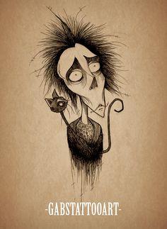 Vincent Malloy Tattoo Design  Tim burton fanart blackwork tattoo design goth sketch  @gabstattooart