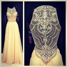 Beading Yellow Floor Length O neck Prom Dress, New Arrive Prom dress, FS1758