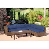Found it at Wayfair - Conversation 3 Piece Deep Seating Group in Espresso with Cushions