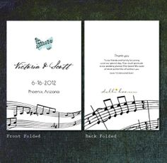 DIY or Printed Musical Themed Wedding Programs  Two by dollibee, $49.99