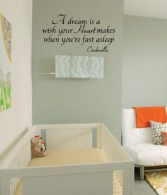 Amazon.com: Newclew CINDERELLA QUOTE VINYL WALL DECAL GIRLS ROOM NURSERY removable Vinyl Wall Decal Home Décor Large: Home & Kitchen
