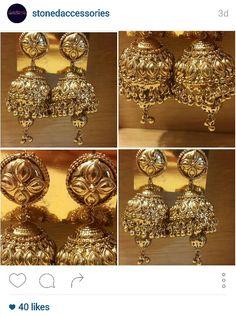 Golden rajputana earrings
