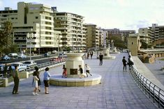 Children playing outside the pool at Sea Point Pavilion, Cape Town, South Africa, photograph by Keith Taylor. The Good Old Days, The Good Place, African Life, African History, Cape Town South Africa, Most Beautiful Cities, Old Buildings, Old Pictures, Street