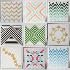 Hand-Painted Geometric #Coasters, #pattern