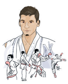 Karate, Facebook, Portrait, Digital, Artist, Painting, Men Portrait, Artists, Painting Art