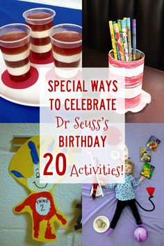 Seuss' birthday is this Sunday, March Here are some fun activities to do with the kids to celebrate the American writer, poet, and cartoonist's birthday! 20 Cat in the Hat Activities to Celebrate Dr. Seuss's Birthday from Hands On : As We Grow Dr Seuss Activities, Holiday Activities, Book Activities, Sequencing Activities, Party Activities, Toddler Preschool, Toddler Activities, Projects For Kids, Crafts For Kids