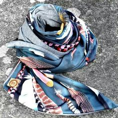 Wool & pique winter 2015 winter scarf- feathers www.thespottedquoll.com.au