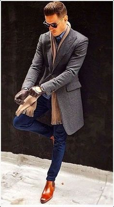 Male beauty and others men's winter fashion outfits, mens winter boots fashion, mens autumn Fashion Mode, Suit Fashion, Mens Fashion, Style Fashion, Fashion Photo, Leather Fashion, Fashion News, Fashion Outfits, Fashion Trends