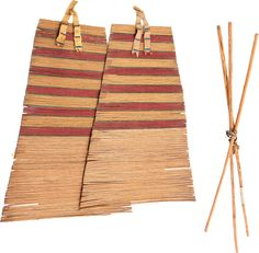 A PAIR OF PLAINS TIPI BACKRESTS. c. 1900... (Total: 3 Items) | Lot #50088 | Heritage Auctions