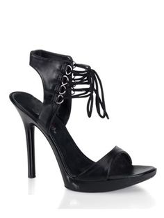 Black Ankle Lace Up High Heel Sandal  9 >>> See this great product.(This is an Amazon affiliate link and I receive a commission for the sales)