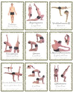 yoga poses for beginners | Yoga Pose cards free Yoga cards with yoga poses make your own ...