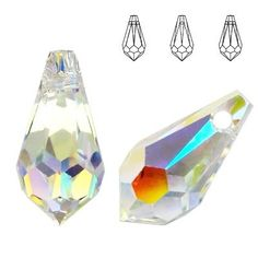 6000 Drop 13x6,5mm Crystal AB  Dimensions: 13,0 x 6,5 mm Colour: Crystal AB 1 package = 1 piece