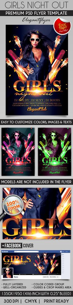 Girls Night Out – Flyer PSD Template + Facebook Cover https://www.elegantflyer.com/free-flyers/girls-night-out-flyer-psd-template-facebook-cover-3/