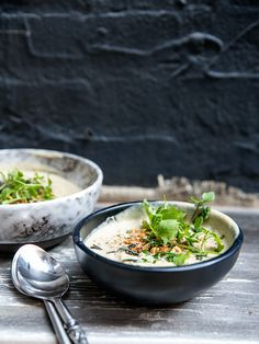 cauliflower + hazelnut soup with fried sage recipe | whats cooking good looking