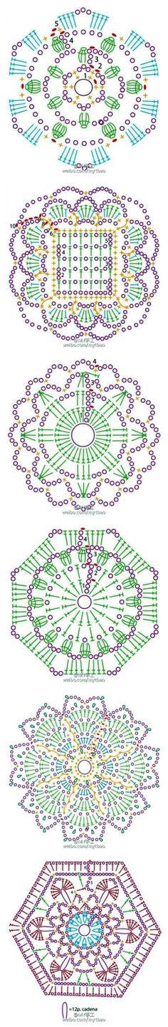 원형모티브 도안 6종을 담았습니다. 활용도 높은 도안들이네요... 멋진 작품에 응용해 보아요 ~ 첫번째 도...