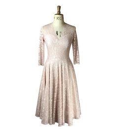 Baylis & Knight blush pink sweetheart circle dress vintage
